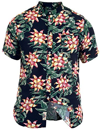 Duke Herren Kingsize Blume Hawaii Kostüm Party Strand Holiday Hemd