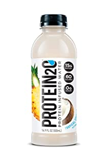 Protein2o Low Calorie Protein Infused Water, 15g Whey Protein Isolate, Tropical Coconut (16.9 Ounce, Pack Of 12)