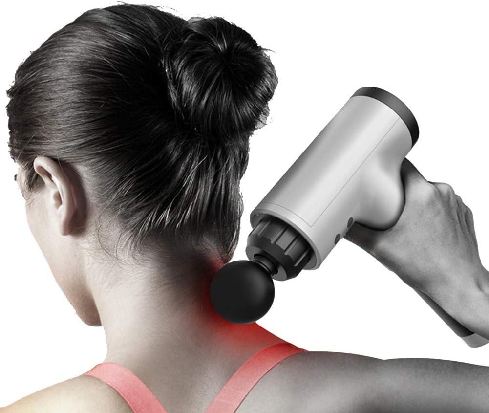 Pc-HXG Pistola de Masaje Muscular Masajeador Muscular Profundo de Mano Modos de Velocidad Opcionales Pérdida de Grasa para ejercitar el Alivio del Dolor Adecuado para Todo el Cuerpo