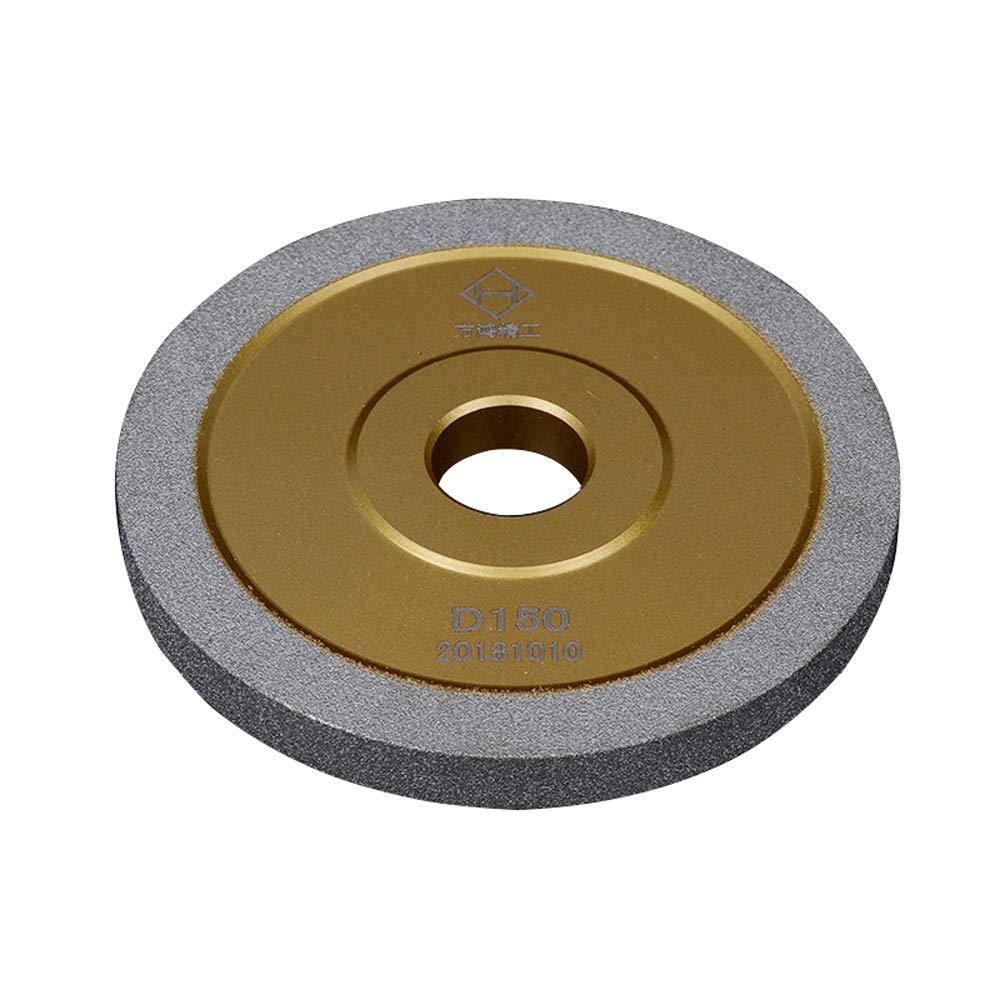 5 inch Brazed Diamond Grinding Wheel Cutter Grinder Tool Diamond Grinder Wheel Flat Wheel Grit 100 (Gold, 5 inch(125mm)) by B.M. Choice