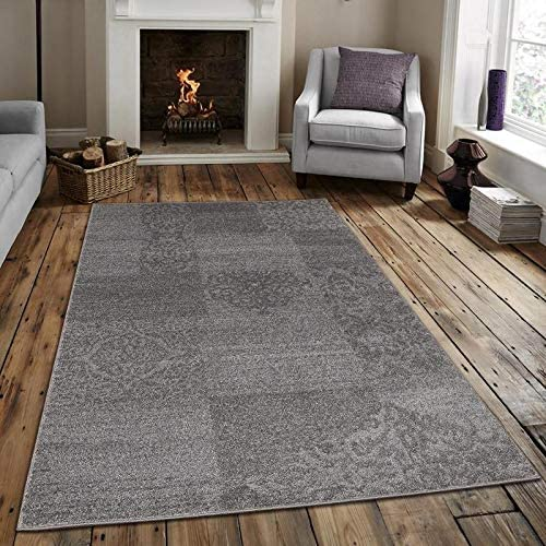 Msrugs Monaco Collection Gray Area Rugs for Living Room 3 x5 – 5 x7 – 8 x10