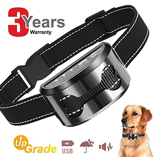 all dog for medium dogs large beep sound ultrasound harmless shock with USB Rechargeable Dog Bark Collar Safe Control Device (Rechargeable Bark Control Collar)