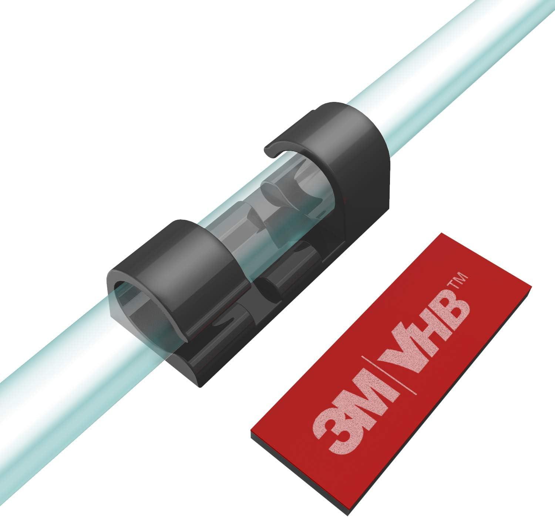 XIAOXI Grip Auto-Adh/ésifs Clips C/âble Blanc la Maison ou le Bureau Attache Fil et le Cordon dans la Voiture Lot de 20