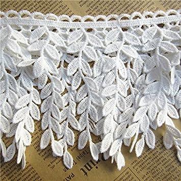 Amazoncom Socraft 1yard Leaf Cotton Crochet Lace Trim Ribbon