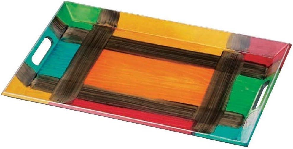 盆 5-119-2 トレー 木製脇取盆ザルツブルク オレンジ 54.5x36.0x4.0cm 木製品 5-119-2 1個1個