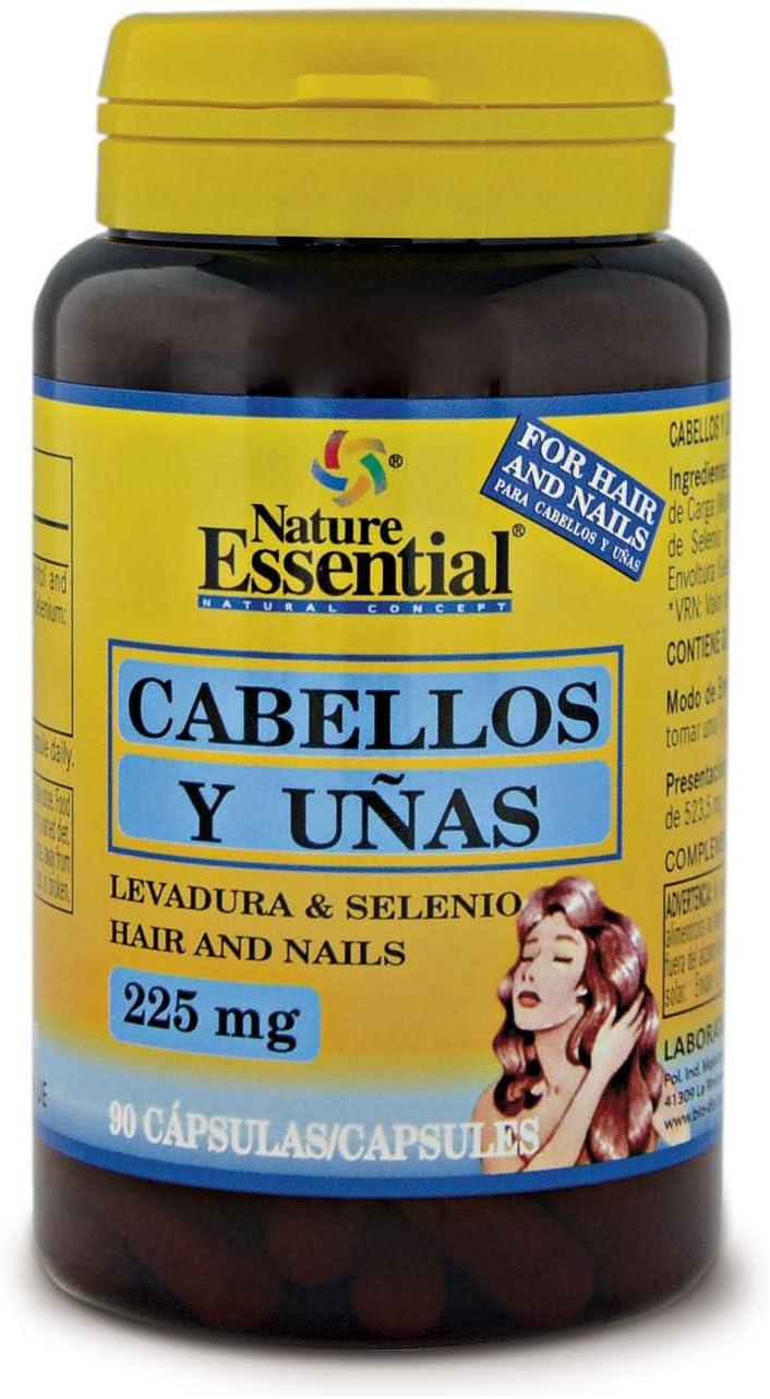 Cabellos y uñas 225 mg. (Levadura + selenio) 90 capsulas. Para fortalecer y frenar la caída del cabello y reforzar uñas y piel.