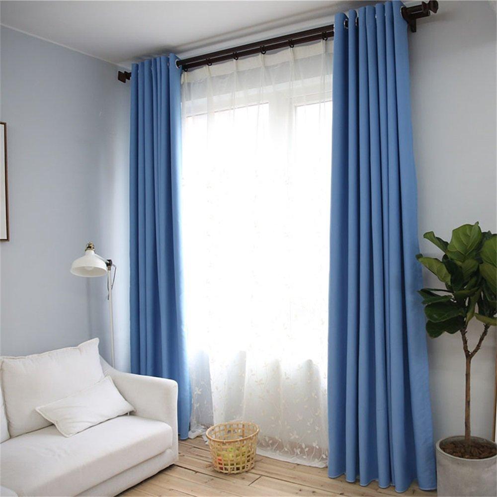 HOME UK- Ein Satz von 2 PC Verdickung Voll Schattierung Vorhang Moderne minimalistische Wohnzimmer Schlafzimmer Solid Color Fertigprodukte ( farbe : Curtain And Yarn , größe : 3*2m )