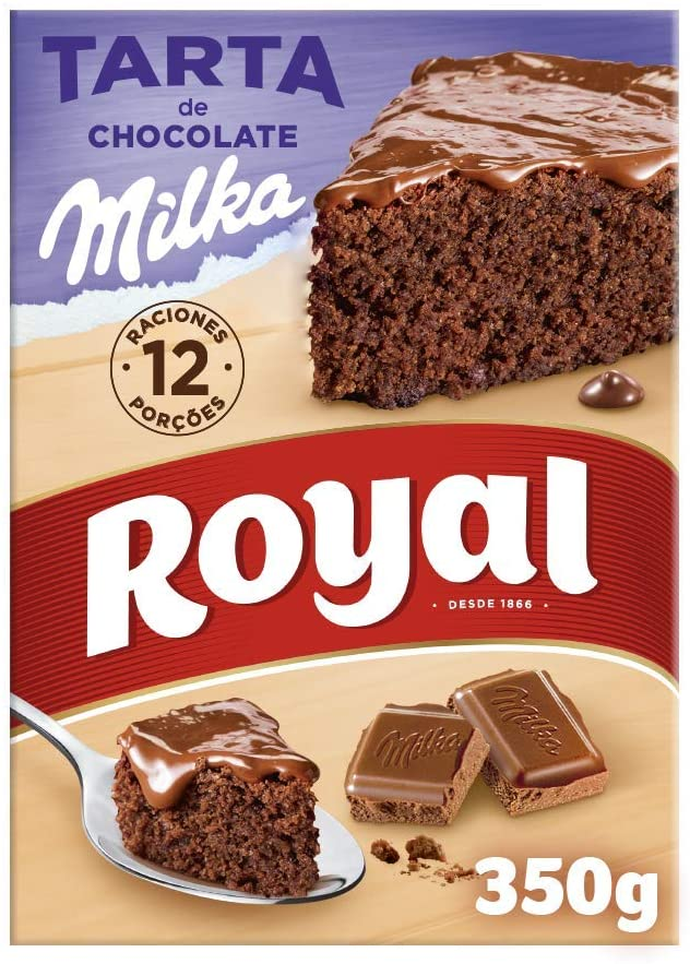 Royal Tarta de Chocolate Milka, Preparado en Polvo - 12 Raciones, 350 g: Amazon.es: Alimentación y bebidas