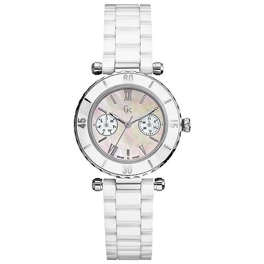 Gc Guess Collection Diver Chic Reloj para mujeres Con elementos de cerámica: Gc: Amazon.es: Relojes