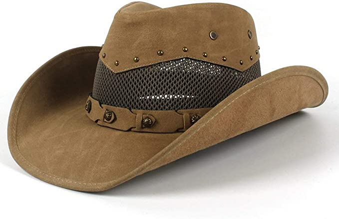 Gorros Sombreros Sombrero De Vaquero Occidental para Malla Verano ...