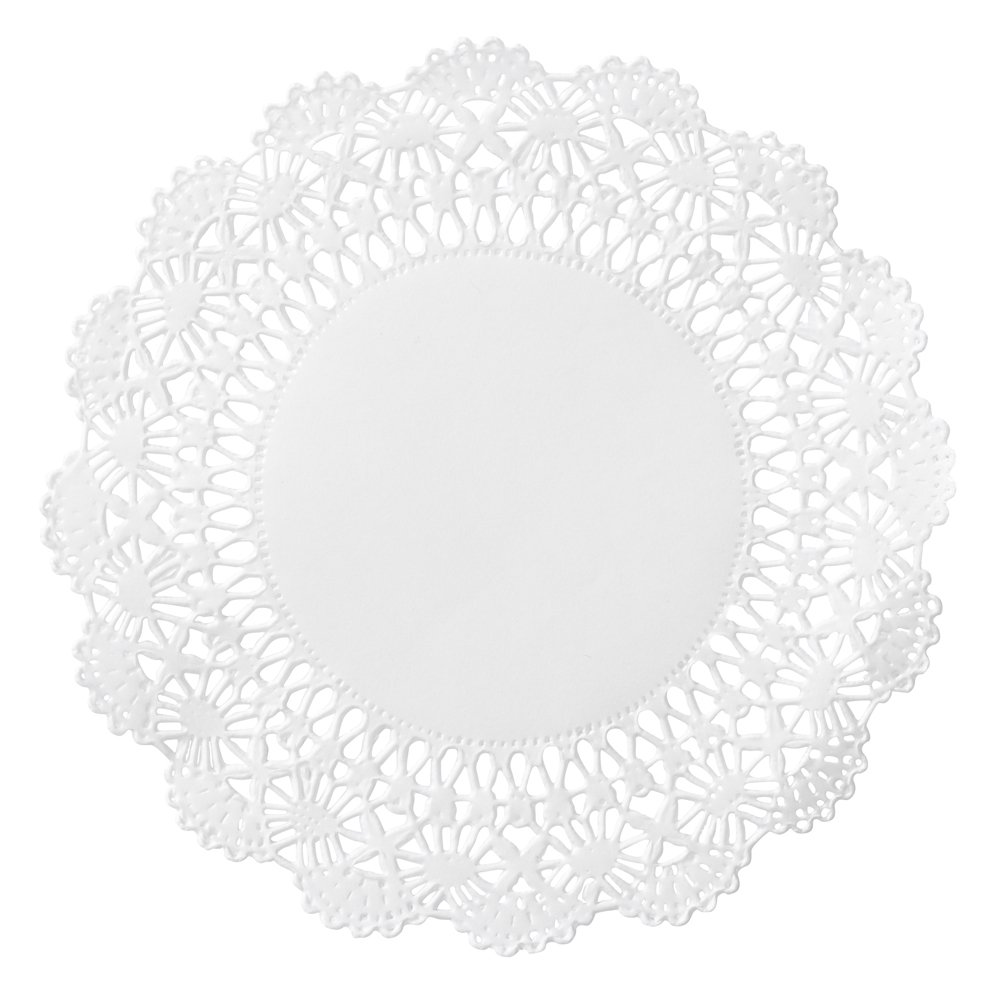 Hoffmaster 500234 Cambridge Lace Doily, 5'' Diameter, White (Case of 1000)
