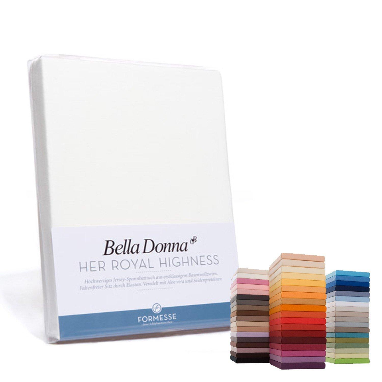 Formesse Spannbettlaken Bella Damenschuhe Single-Jersey weiß Größe 180x200 cm - 200x220 cm
