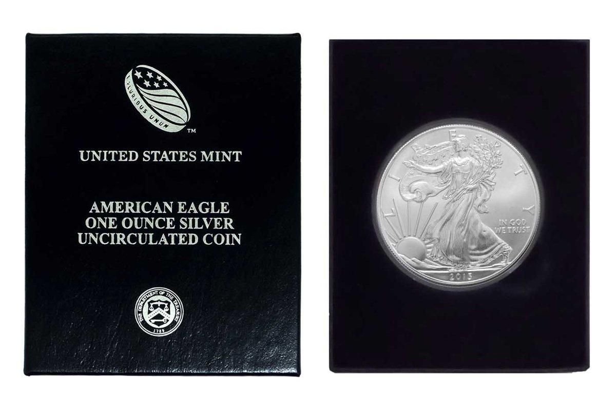 2013 Mint Uncirculated  Silver Eagle  Dollar  Gem Bullion