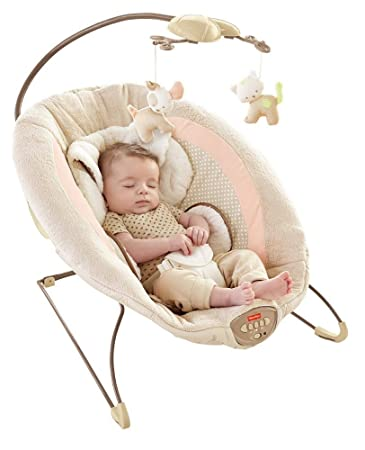 Fisher-Price My Little Snugapuppy Deluxe Bouncer with Mobile Music Toys Baby