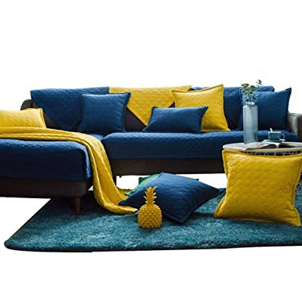 Amazon.com: HOMHOM - Funda de sofá de algodón suave, color ...