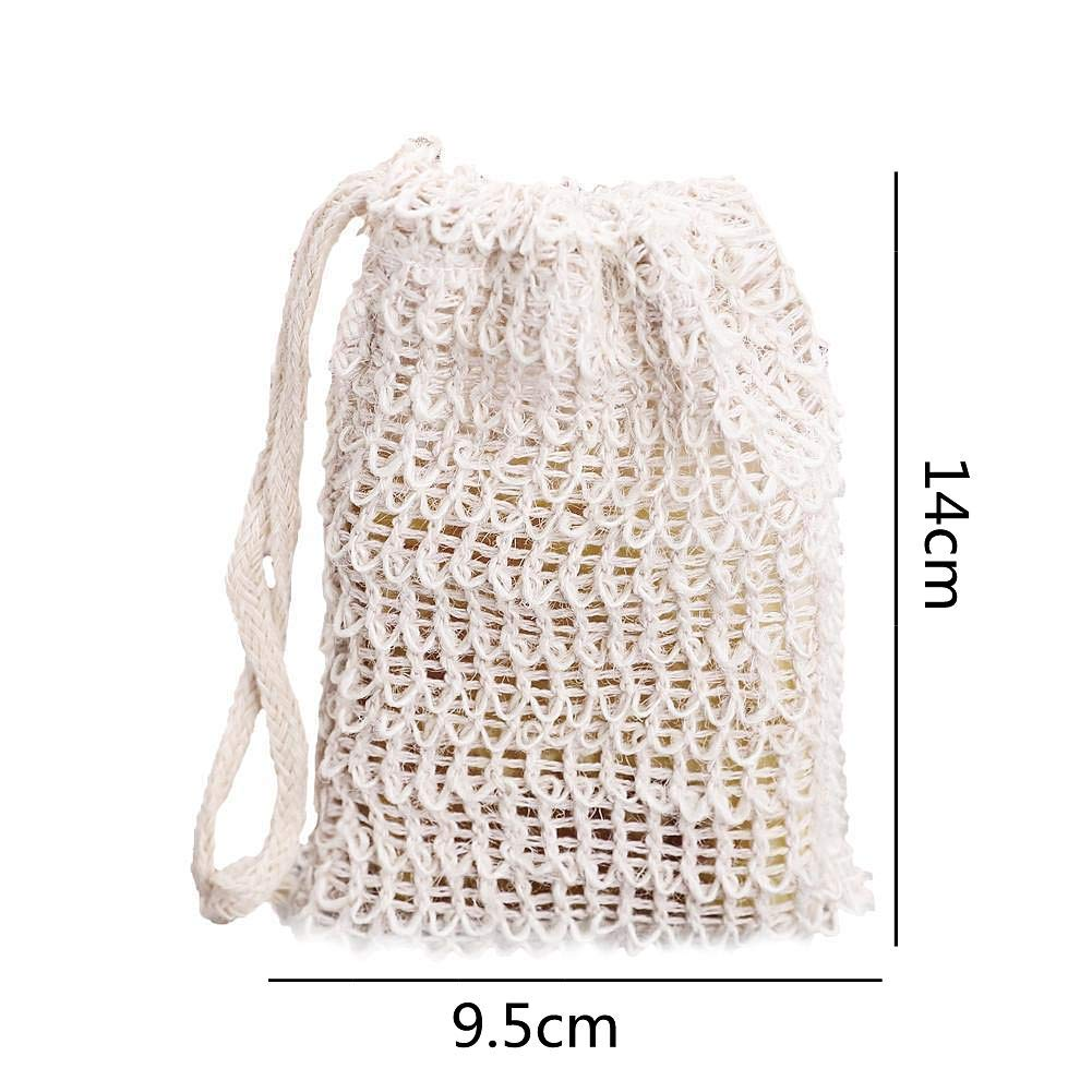 Cheap Sale 6 Pcs Natural Exfoliating Soap Bags Handmade Sisal Soap Bags Natural Sisal Soap Saver Pouch Holder Bath Soap Holder Bags Highly Polished Bathroom Fixtures Home Improvement