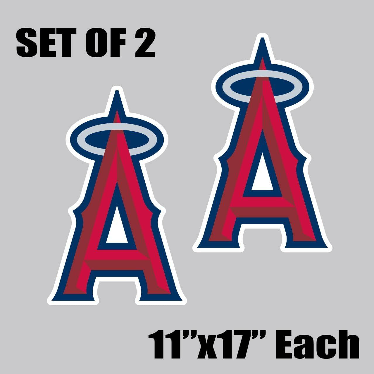 "11/""x17/"" Anaheim Angels Vinyl Sticker Decal Cornhole Set of 2"