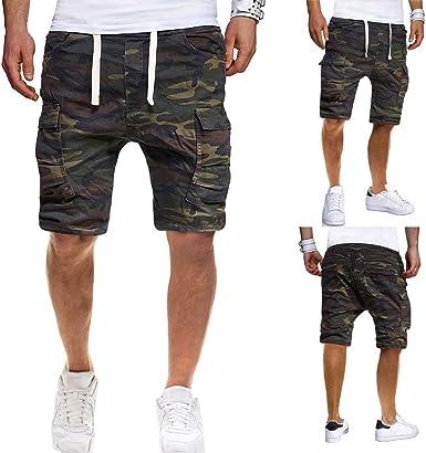 Pantalones de Trabajo de Hombre Verano, Moda Pantalones Cortos ...