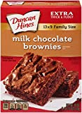 Duncan Hines Brownie Mix, Milk Chocolate, 18 Ounce (Pack of 12)