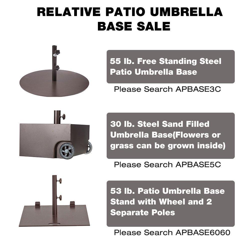 Abba Patio Outdoor Patio Umbrella 9 Feet Patio Market Table Umbrella with Push Button Tilt and Crank, Beige by Abba Patio (Image #8)