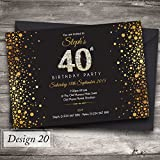 40th birthday party invitations 20 pack amazon kitchen home 50 personalised birthday invitations party invites choose from 39 stunning designs 18th 21st 30th filmwisefo Gallery