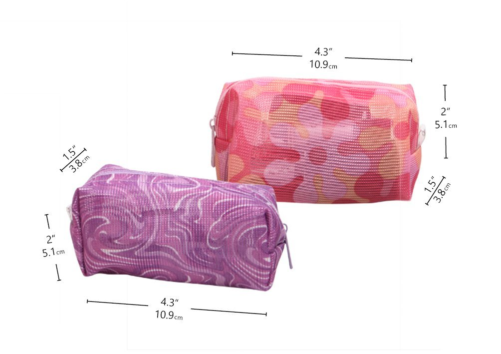 Colorful Cosmetic Bags Lightweight Travel Toiletry Pouch Roomy Makeup bag ‎ Daily bag Organizer 2 –Pack