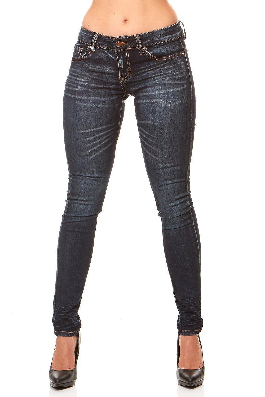 351d4d5e30 V.I.P. JEANS Women's Plus Size Five Pocket Skinny Stone Wash Light Or Dark