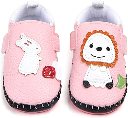 DELEBAO Baby Shoes Breathable Rubber Sole Crib Shoes Slippers Prewalker