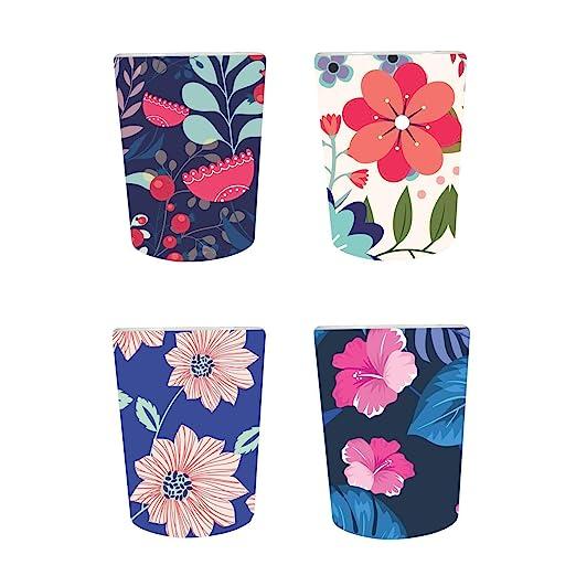 YaYa Cafe™ Floral Flower Well-Formed Decorative Pots Planter Indoor (Only Pots) Set of 4