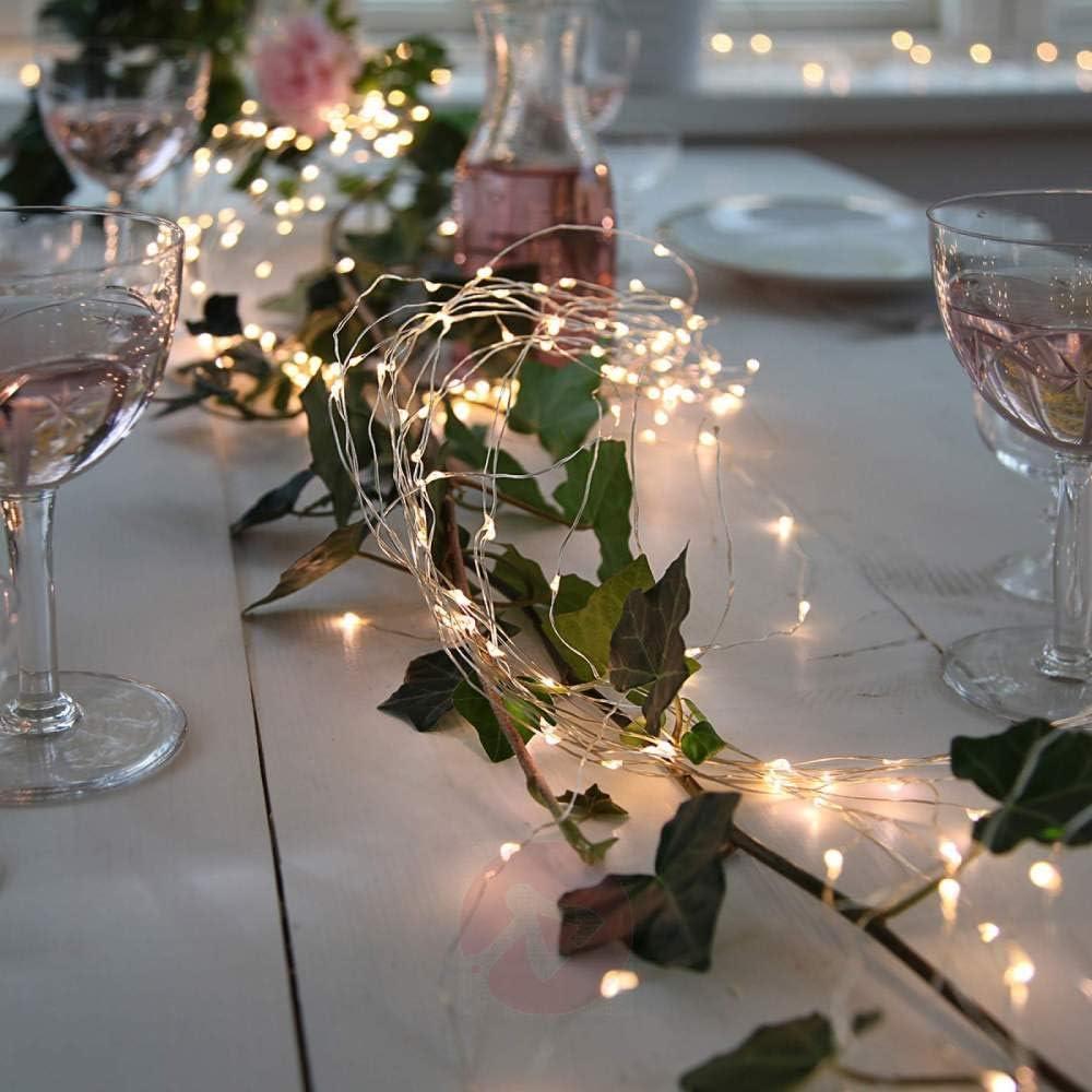 Lichterkette, Lichtring, Lichtleiste 30M 50M 100M Led-Lichterkette Straßenlampe Feenlampe Wasserdicht Im Freien Weihnachtslichterketten Festival Hochzeitsdekoration 10 Meter 100 Leds