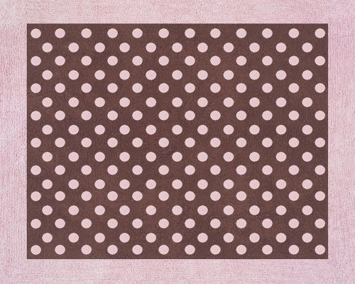 Pink and Brown Mini Polka Dot Accent Floor Rug by Sweet Jojo
