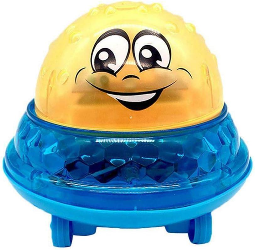 JeromKewin Baño Bebé Juguetes Luz Squirters Juguetes Lindo Eléctrico Inducción Bola de Luz Play Baño Agua Juguetes Bañera Piscina - Amarillo Azul
