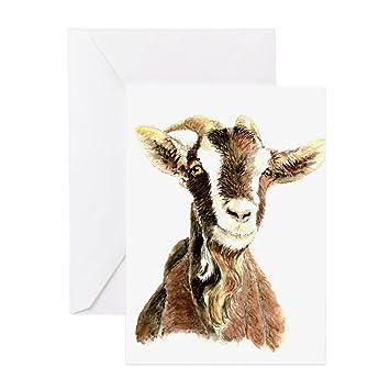 Amazon.com: CafePress – acuarela Original cabra tarjetas de ...