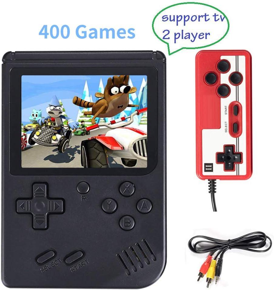 Consola de Juegos Portátil, Consola de Juegos 3 Pulgadas 400 Juegos Retro FC Game Player Consola de Juegos Clásica 1 Carga USB,Soporte Dos Jugadores ,Regalo de Cumpleaños para los Niños Padres