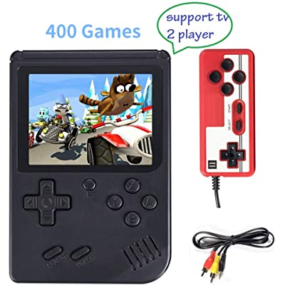Consola de Juegos Portátil, Consola de Juegos 3 Pulgadas 400 Juegos Retro FC Game Player Consola de Juegos Clásica 1 Carga USB,Soporte Dos Jugadores ,Regalo de Cumpleaños para los Niños Padres…