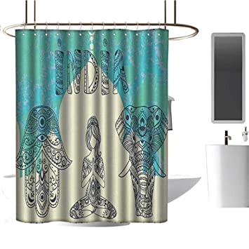 Amazon.com: TimBeve Clear Shower Curtain Liner Yoga,Ethnic ...