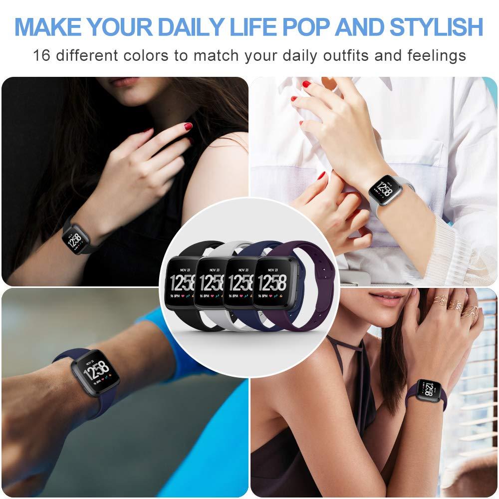 Soffice Sport Impermeabile Traspirante Snello Silicone Cinturino for Fitbit Versa /& Versa Lite /& Special Edition KIMILAR Cinturino Compatibile con Fitbit Versa//Versa Lite for Women Men
