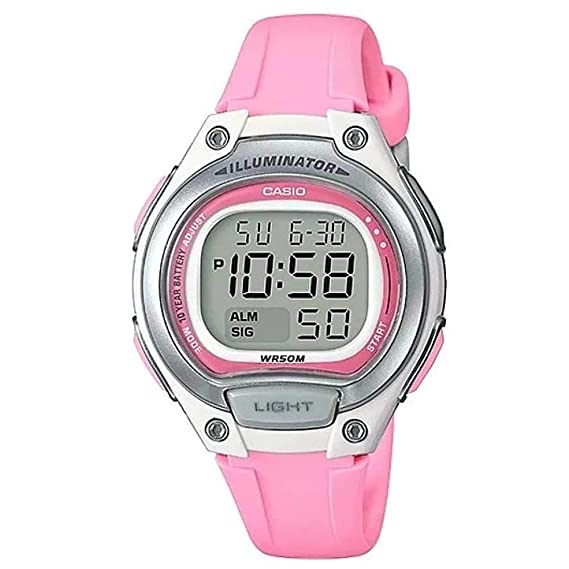 52a1f940b890 Reloj Casio Rosa sumergible para niñas LW-203-4A  Amazon.es  Relojes