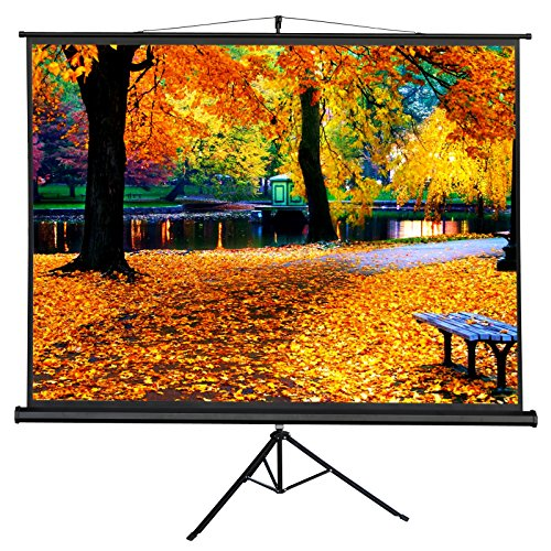 ZENY Projection Screen Manual Pull up Projector with Stand 100'' Diagonal, Projector 4:3 HD Fortable Stand and Tripod, Suitable for HDTV/Sports/Movies/Presentations by ZENY