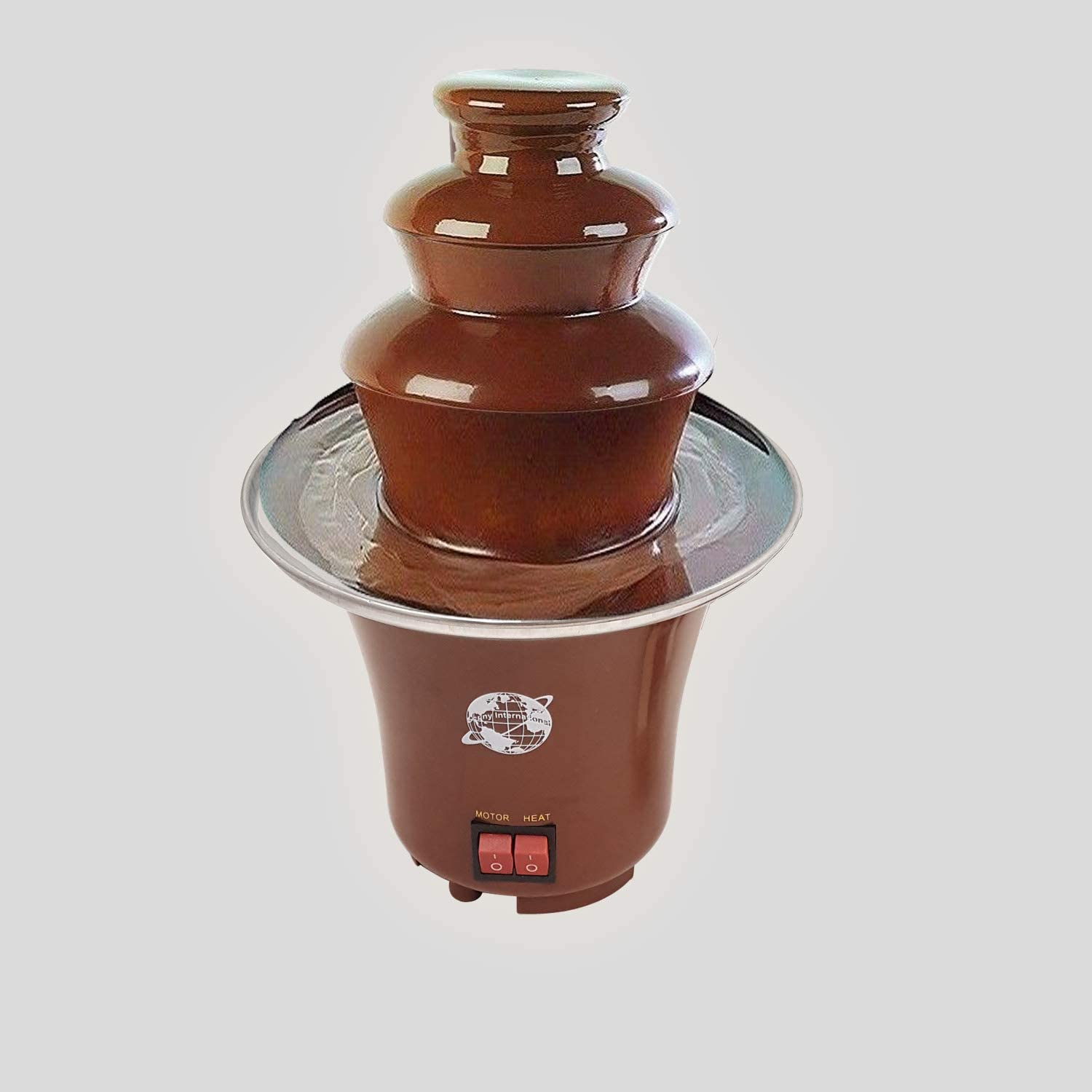 JANOON Electric Melted Chocolate Fondue Fountain Celebration Hot Chocolate Dip