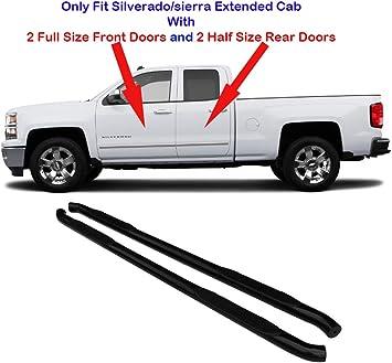 For 2007-2018 GMC Sierra 1500//2500//3500 Crew Cab 3/'/' Round Nerf Bar Side Step