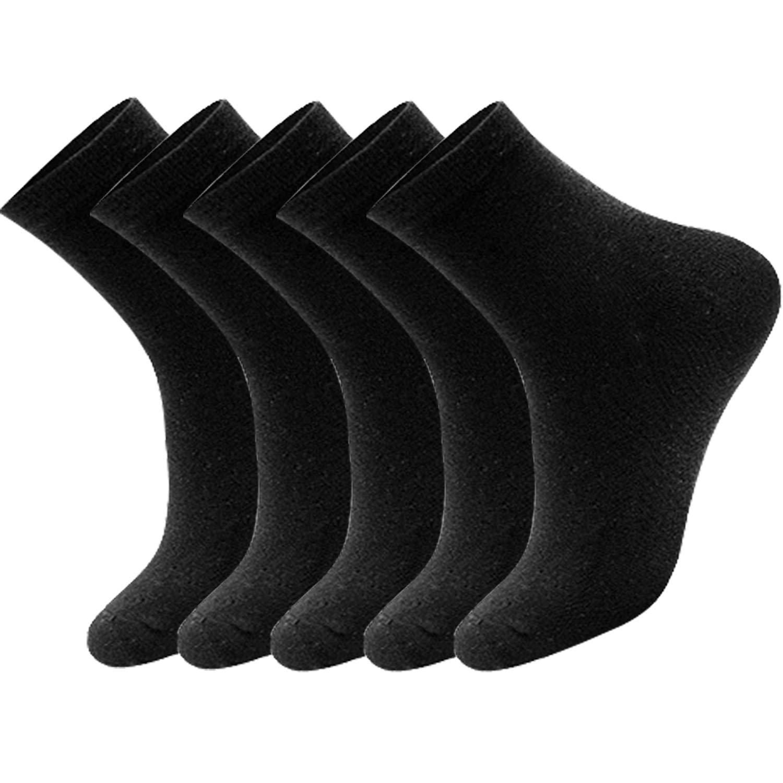 5 Pairs Mens Classics Crew Socks Cushion Crew Socks for Men