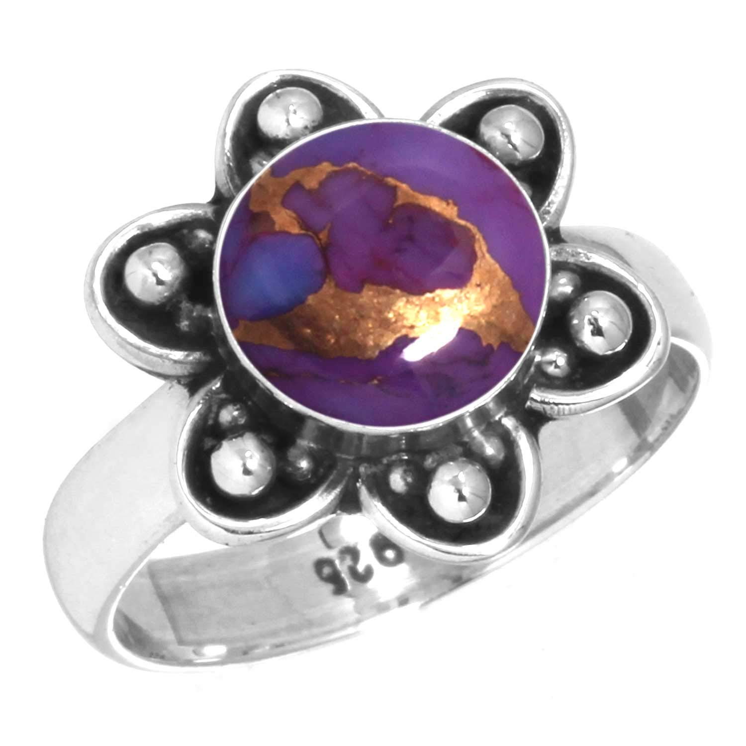 Jeweloporium Solid 925 Sterling Silver Gemstone Handmade Ring for Women