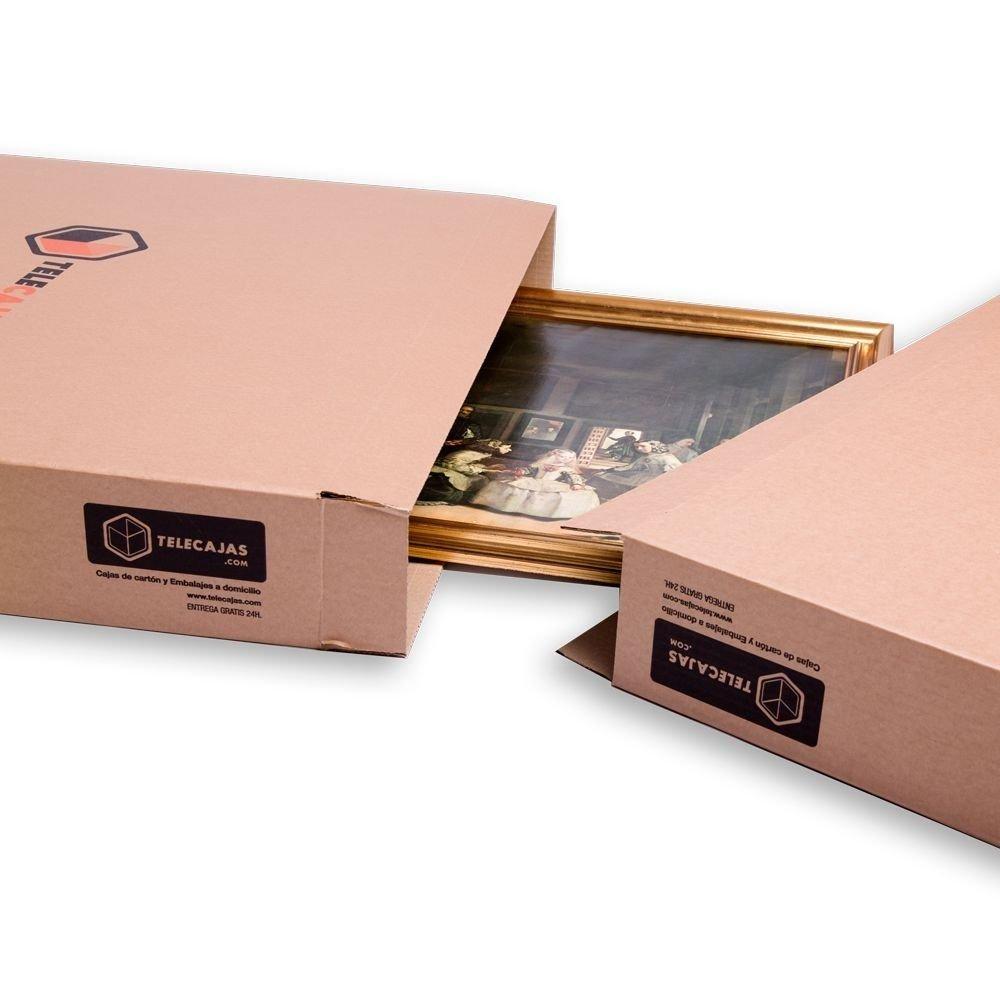 TeleCajas x5CAS9113150 (x5) Cajas de Cartón Telescópicas Muy largas para Arte, Cuadros, Espejos y televisión Plana. 91x13x150 cms: Amazon.es: Hogar