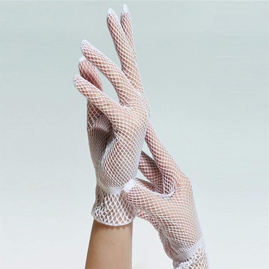 sharprepublic Damen Elegante Hochzeits Netzhandschuhe Spitze Fischnetz Handschuhe Handgelenk