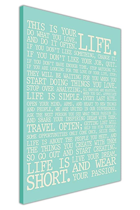 A0 sizes Success in life Quotes Purple Canvas Wall Art  Picture A2 A1