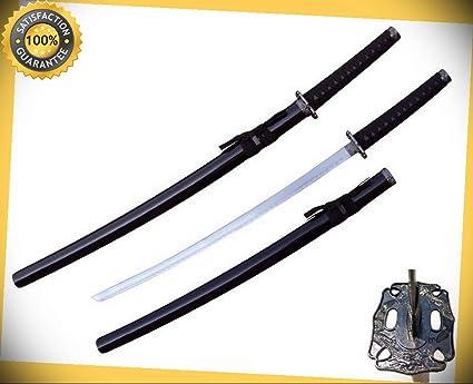 39 Japanese Samurai Sword Katana with Black Scabbard 440 ...
