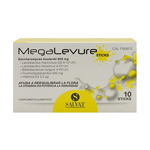 Amazon.com: Megalevure Probiotic 10 Sachets - Rebalances Intestinal Flora - Food Supplement - Digestive Care: Health & Personal Care