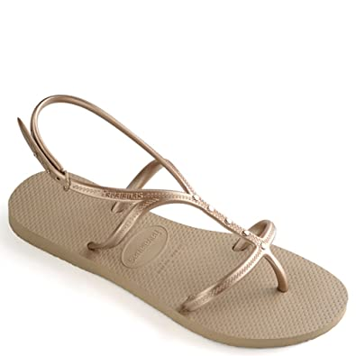 2d149a678c4085 Amazon.com  Havaianas Womens Allure Maxi Sandals (B(M)) Rose Gold  Shoes