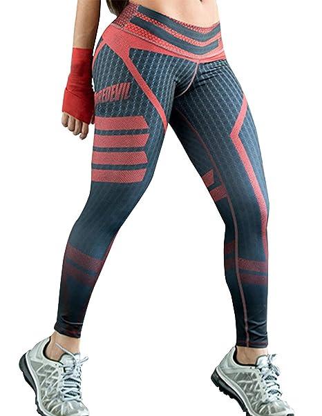 Mallas Deporte Mujer 3D Mallas Medias Deportivas Fitness ...